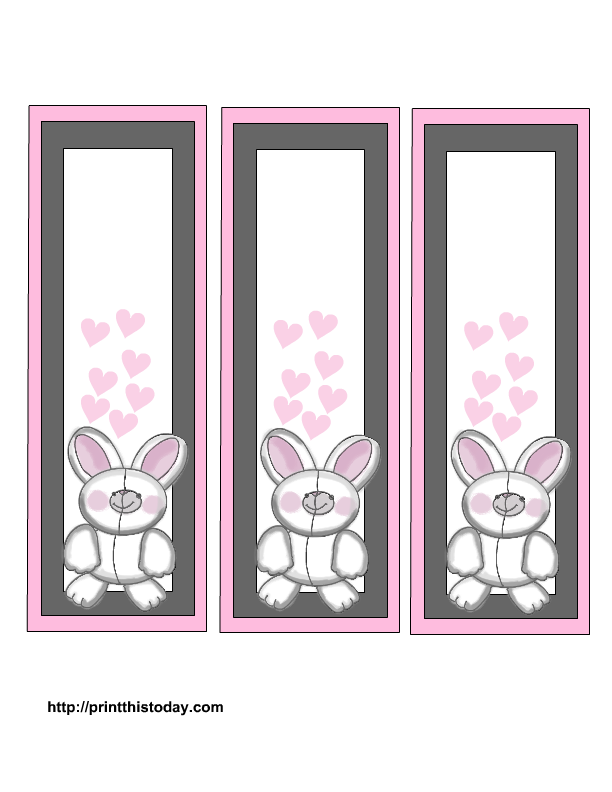 Free printable easter bookmarks for Bookmark printing template
