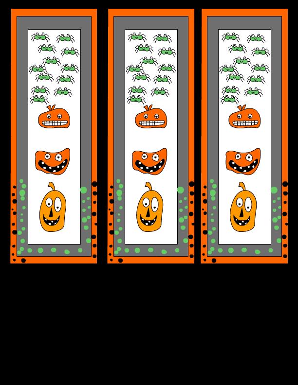 Free Printable Halloween Bookmarks