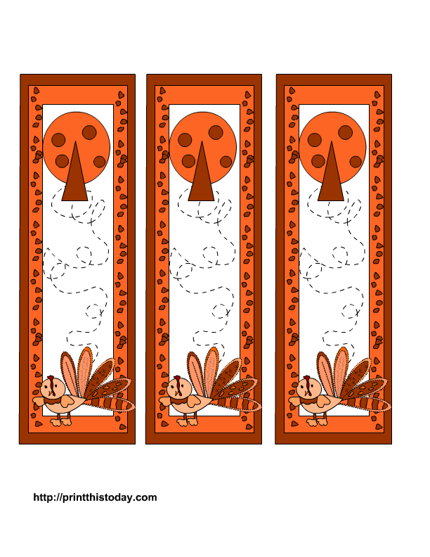 Thanksgiving bookmarks printables for Design a bookmark template