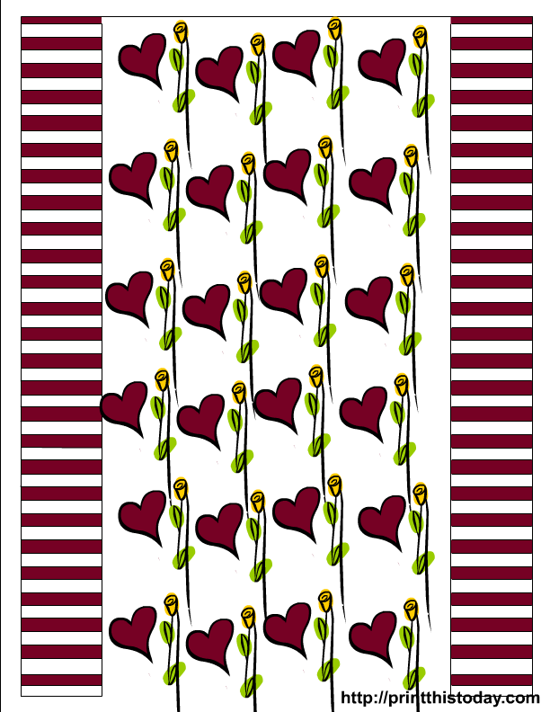 coloring pages of hearts and roses. Roses and Hearts