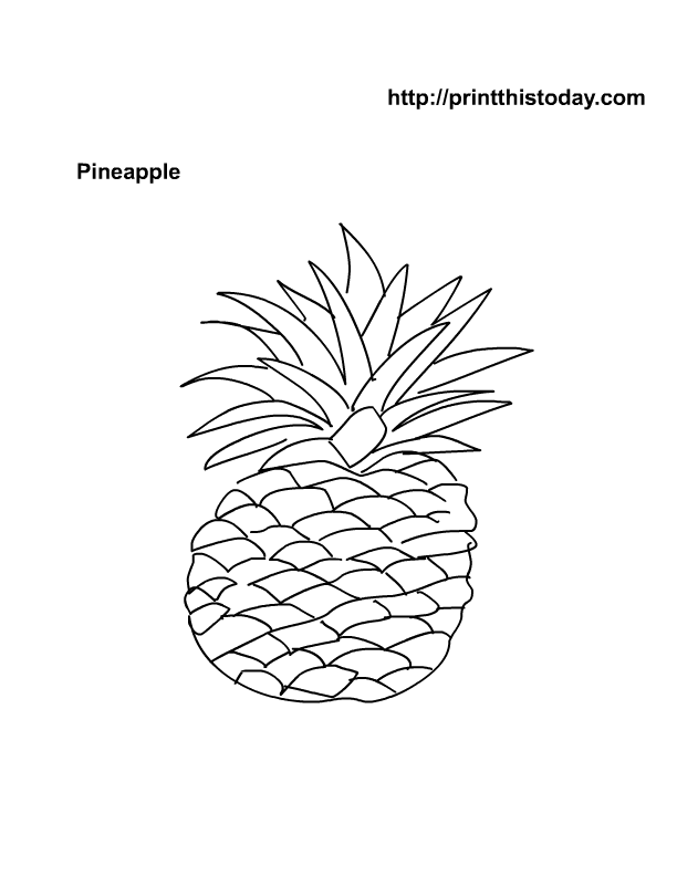Free Printable Fruits Coloring