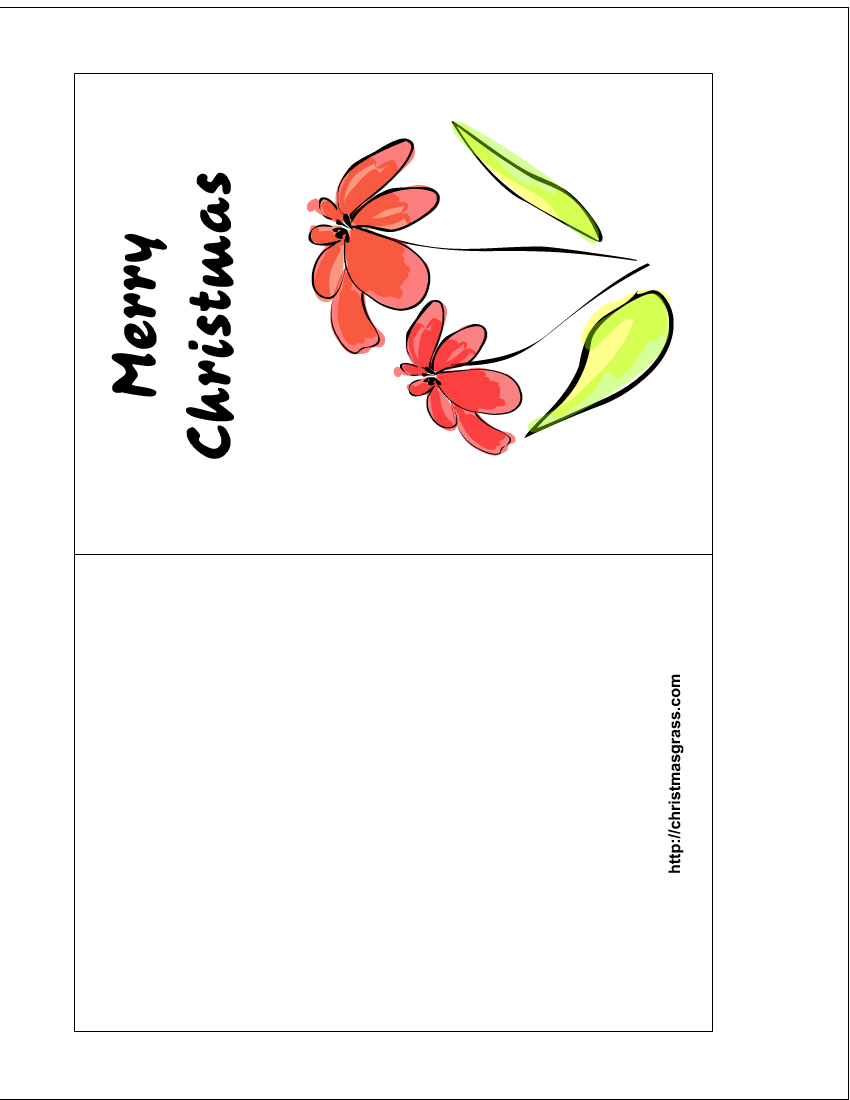 free printable floral christmas greeting card: printthistoday.com/free-printable-christmas-greeting-card