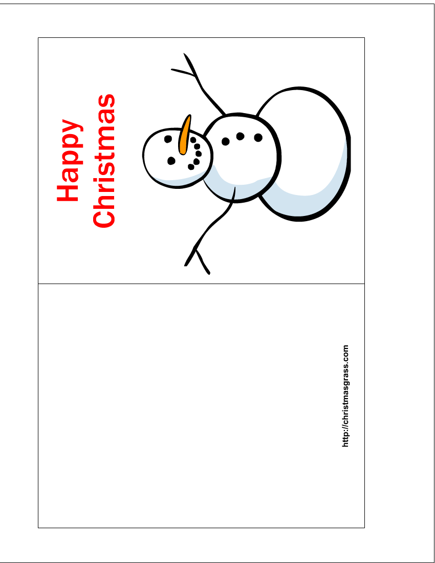 Christmas Card Templates Printable