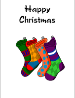 stockings happy christmas card