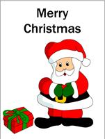 Santa says merry christmas