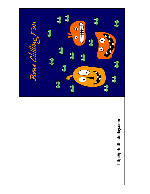 It is a photo of Bright Free Printable Halloween Cards