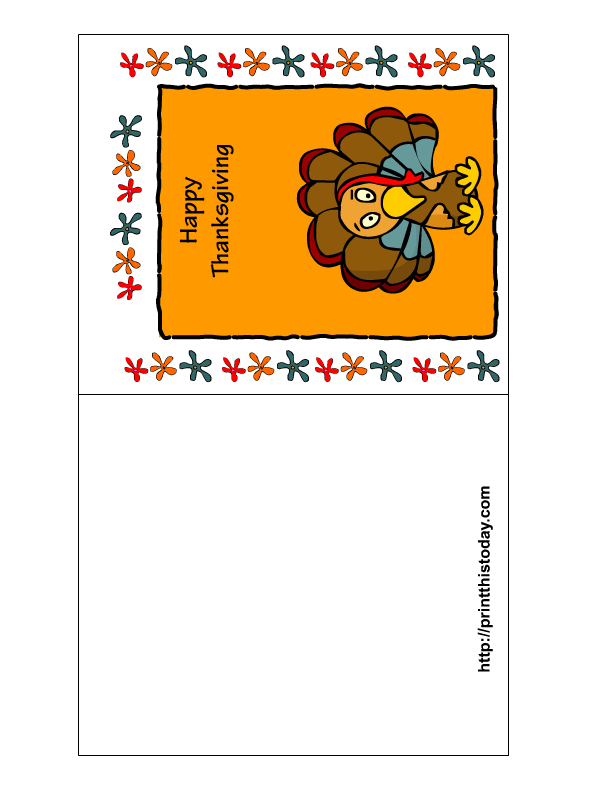 graphic relating to Printable Thanksgiving Cards referred to as Totally free Printable Thanksgiving Playing cards