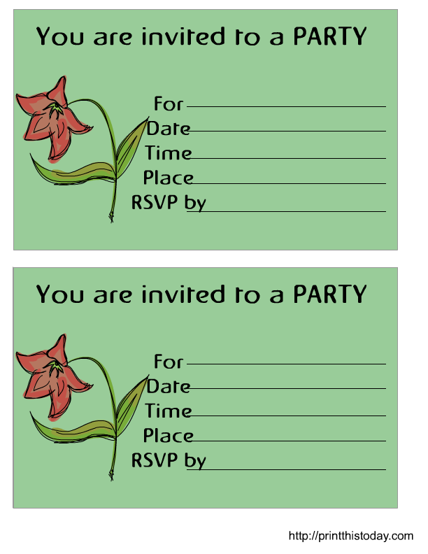 Printable Birthday Invitation - Free printable birthday party invitations templates