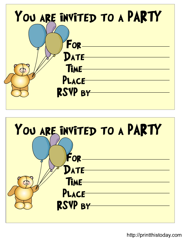 Teddy Bear Birthday Invitation Image collections - coloring pages adult