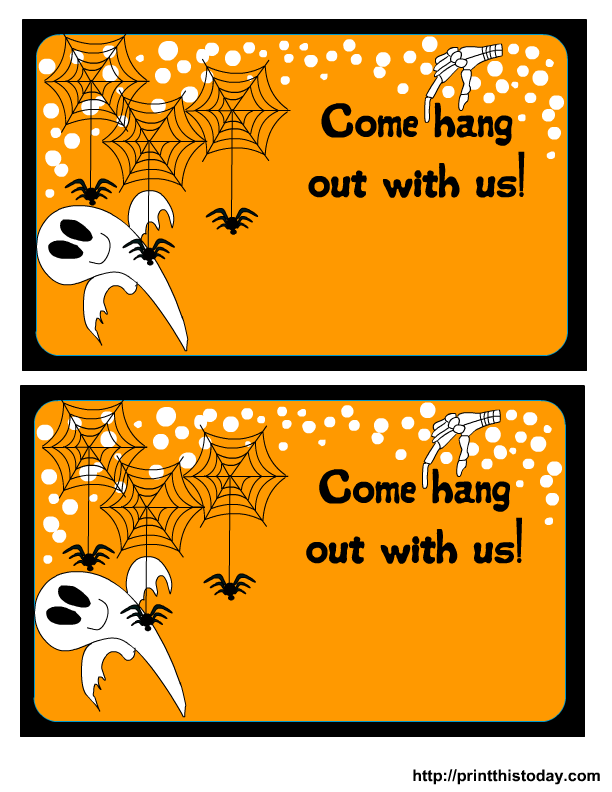 graphic relating to Free Printable Halloween Party Invitations known as Absolutely free Printable Halloween Occasion Invites