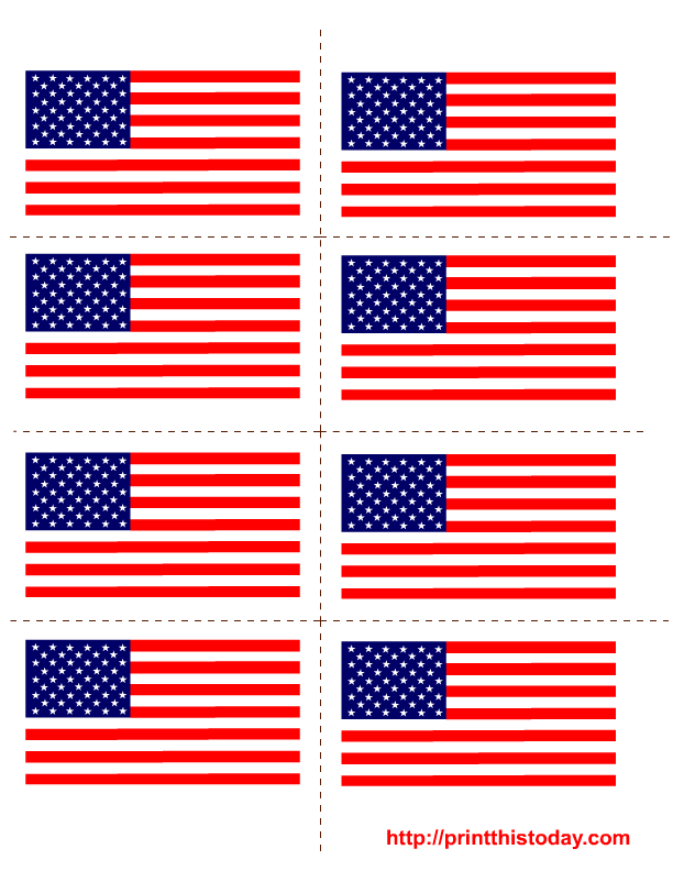 Punchy image within free printable american flag