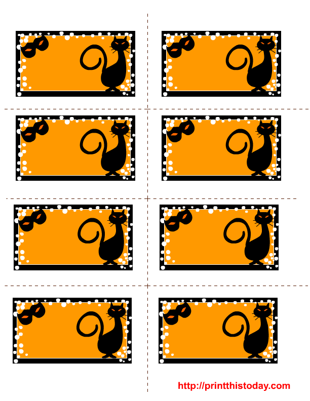 image about Free Printable Halloween Labels called Cost-free Printable Halloween Lables
