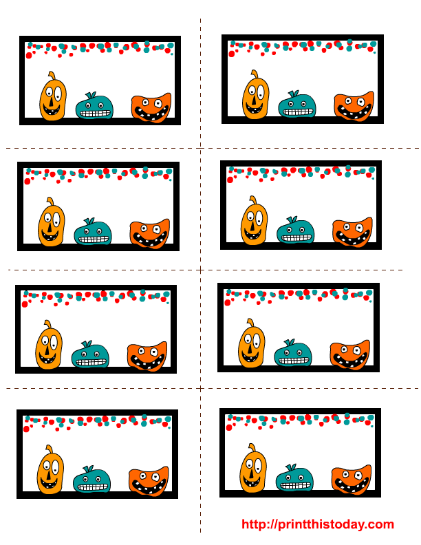 Halloween Labels Printables Free