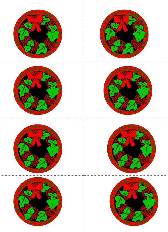 free round labels printable with a mistletoe design