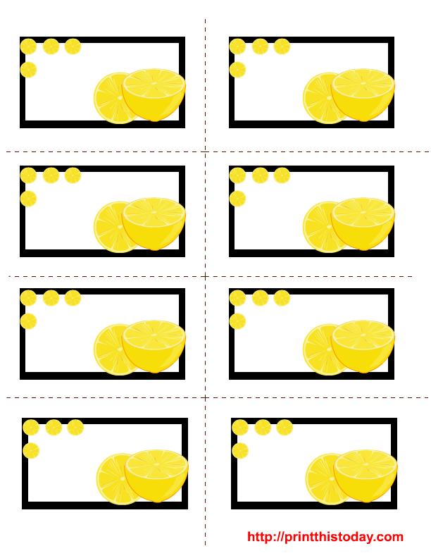 Brand new Free Printable Lemon Labels KU94