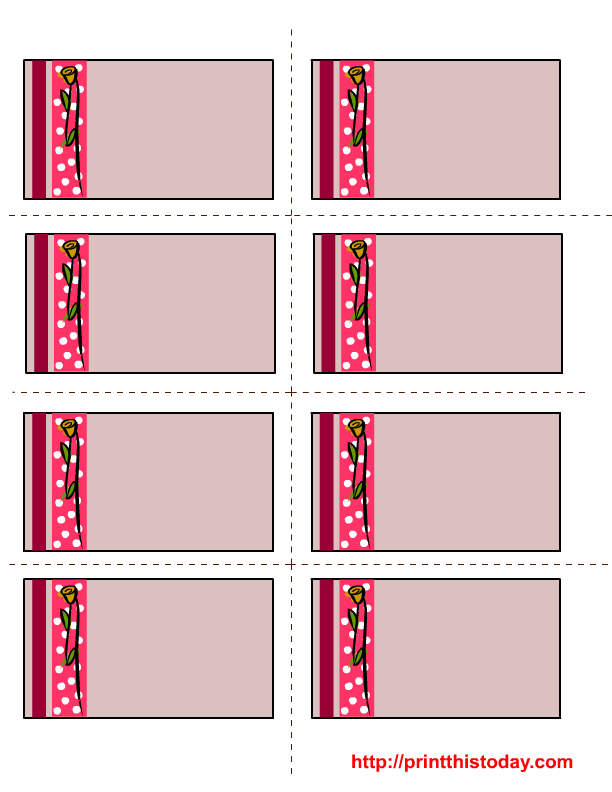 Printable Valentines Name Cards | New Calendar Template Site