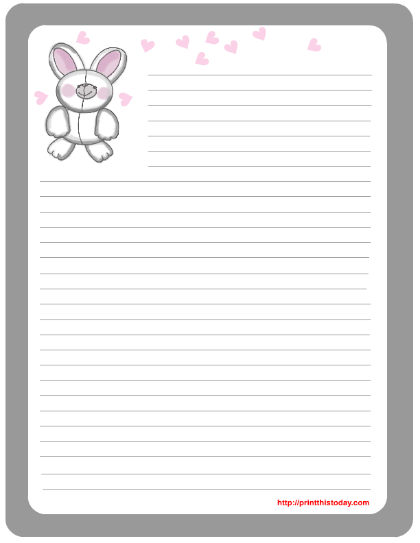 photo regarding Easter Bunny Letterhead named Absolutely free Printable Easter Stationery