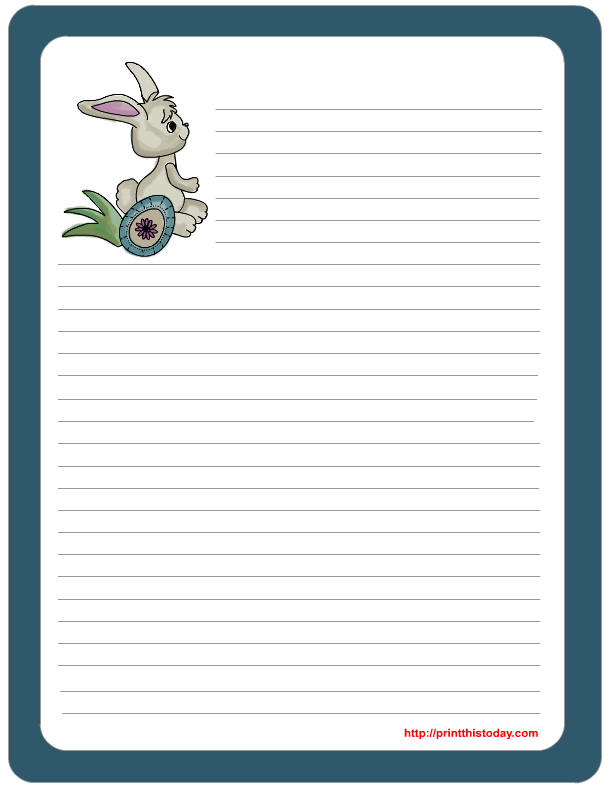 Free printable easter stationery for Letter to easter bunny template