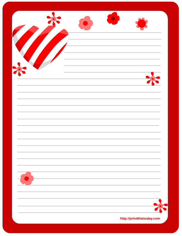 Free Printable Valentine Stationery