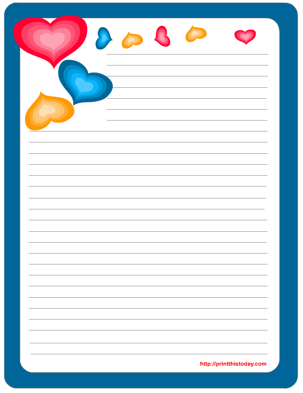 It is an image of Free Printable Stationery Template pertaining to thank you letter