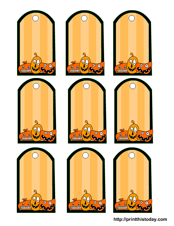 Halloween Printable Tags Templates – Bag Tag Template
