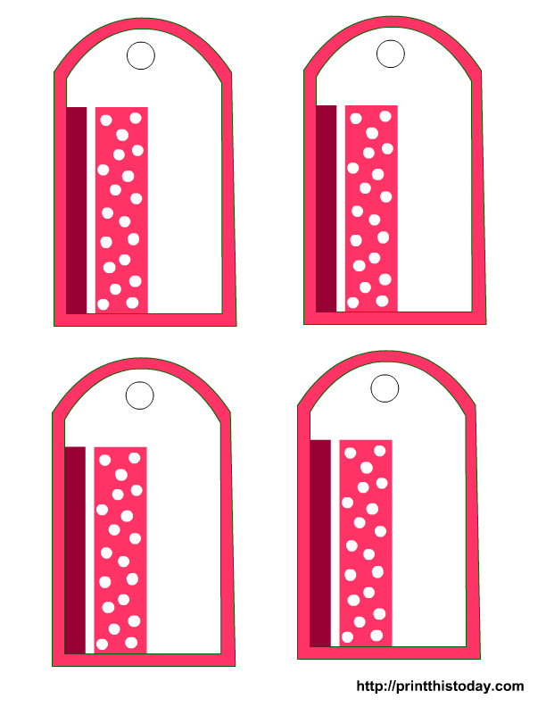 An elegant gift tag with Polka dots (free printable template)