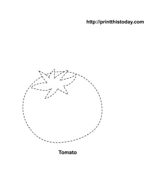 Free Printable ( Vegetables ) Tracing Activities