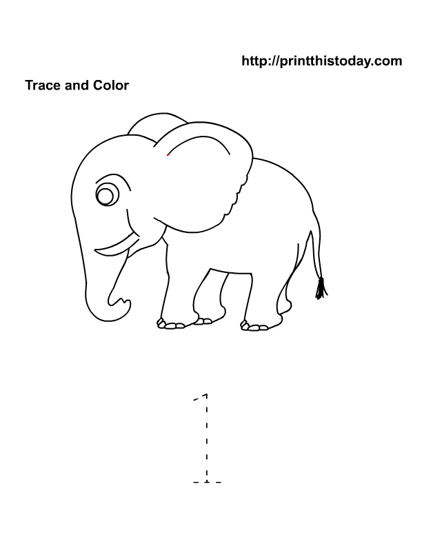 Free Printable Preschool And Kindergarten Math Worksheets. Trace And Color Number 1. Preschool. Printables For Preschool Numbers At Clickcart.co
