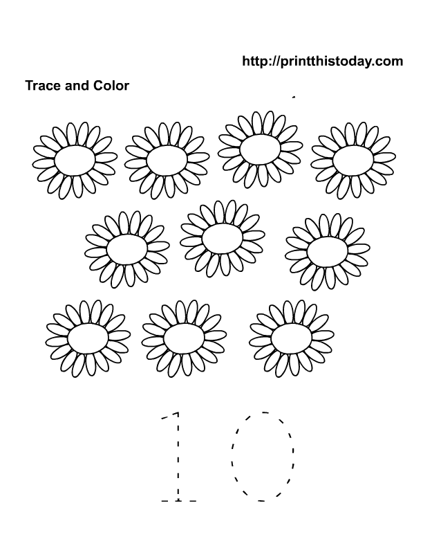 Tracing Numbers 1 10 Worksheets For Preschoolers - Deployday