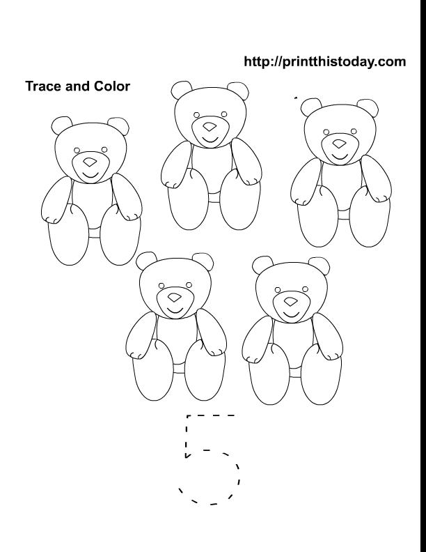Free Printable preschool and kindergarten math worksheets