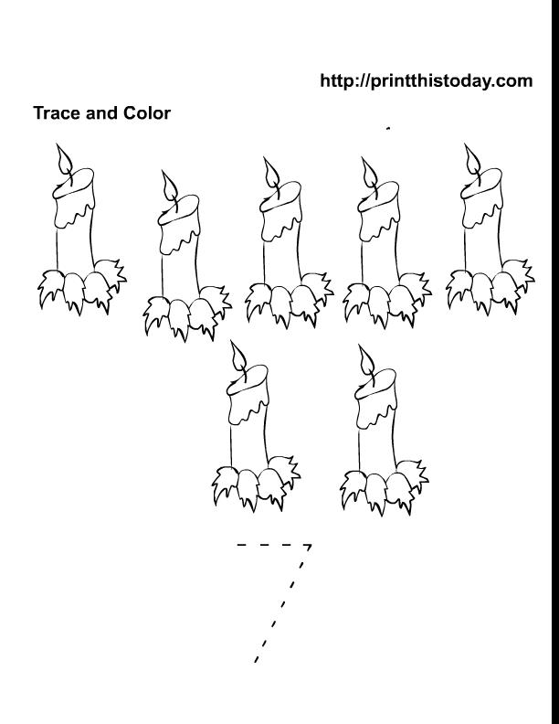 Free Printable preschool and kindergarten math worksheets – Number 7 Worksheet
