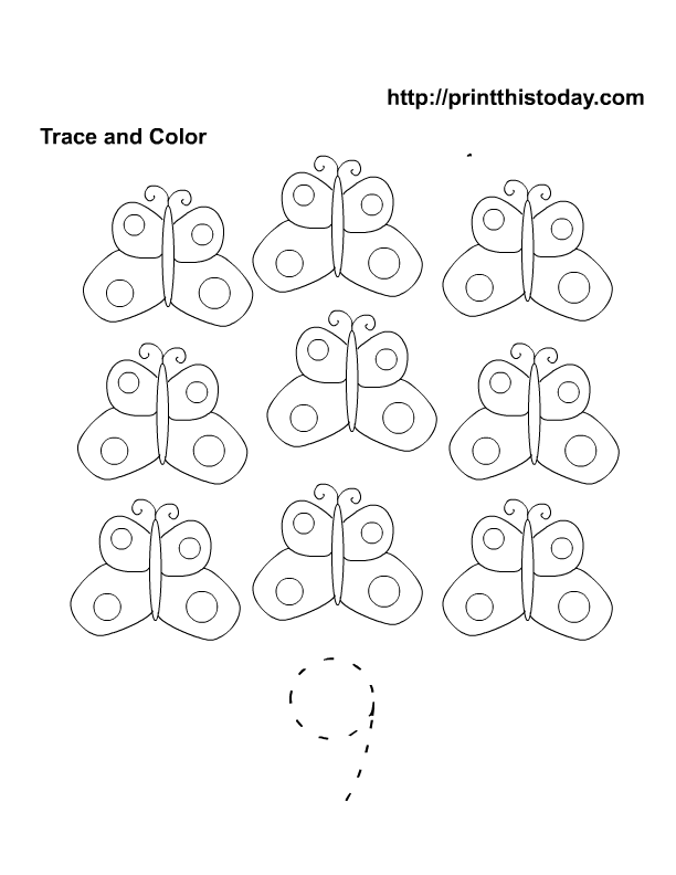 Free Printable Spring Flowers Math worksheets for Preschool – Free Printable Number Worksheets