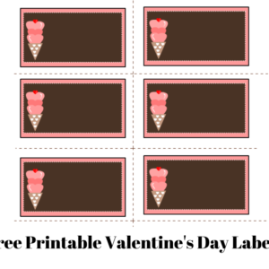 Free Printable Labels for Valentine's Day