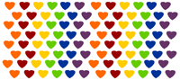 Rainbow Hearts Candy Wrapper