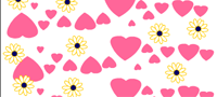 Hearts and daisies Candy Wrapper Printable