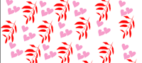 Hearts and Leaves Free Printable Wrapper