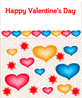 Happy Valentine's day Hearts Card
