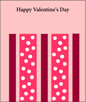 Valentine card with polka dots