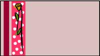 Valentine polka dots and rose label