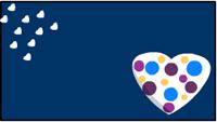 Cute polka dots hearts Valentine printable label