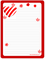 Heart and Flowers Stationery