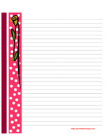 Pink Polka dots and flower valentine