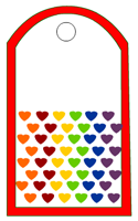 Rainbow Hearts Tag