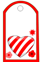 candy Hearts and flower free printable Tag