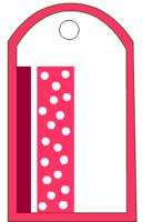 Pink Polka dots tag