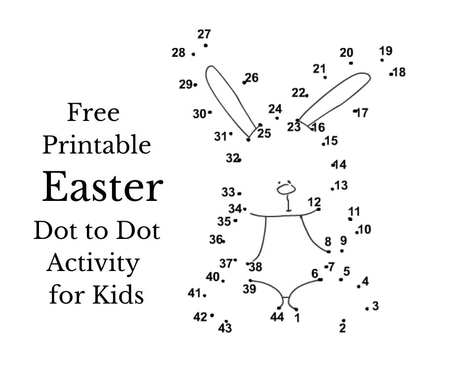 Free Printable Easter Dot to dot