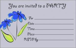 Elegant Blue Flowers invitation