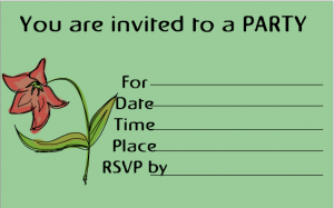 Elegant Flower Birthday Party invitation free printable