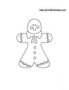 Gingerbread man to color