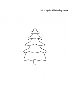 Christmas Tree picture to color